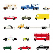 picture of motor-bus  - Transportation and Automotive Symbol Vector Set - JPG