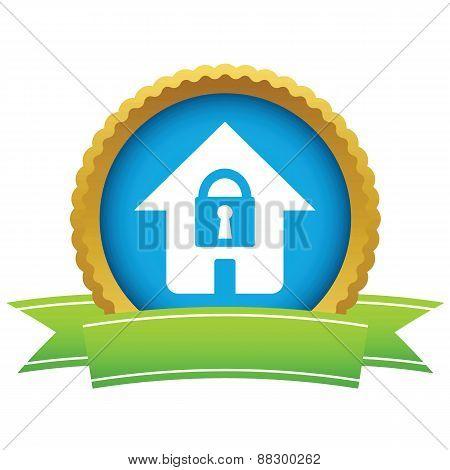 Gold lock house logo