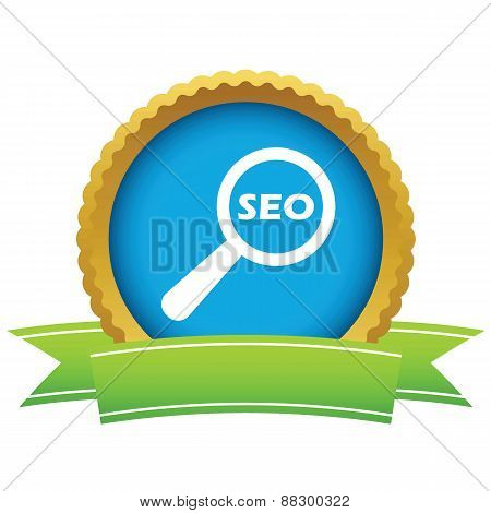 Gold seo search logo