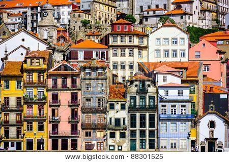 Porto, Portugal old buildings.