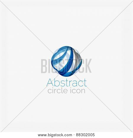 Circle abstract shape logo. Vector illustration