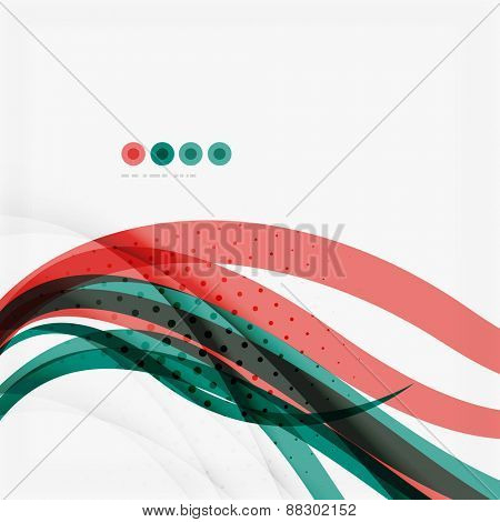 Red and blue lines background, modern business shiny template