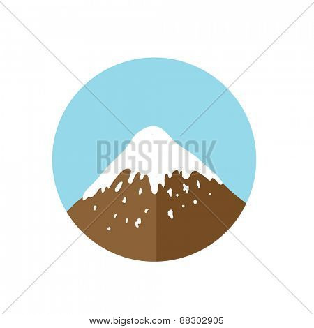 mountain top, vector logo illustration