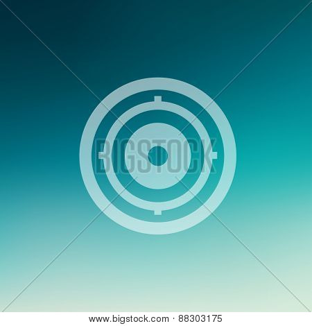 Target pad icon in flat style for web and mobile, modern minimalistic flat design. Vector white icon on gradient mesh background