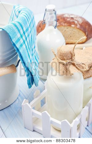 Milk products. Healthy food.