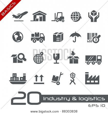 Industry & Logistics Icons // Basics
