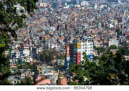 Kathmandu city view from Swayambhunath, Nepal