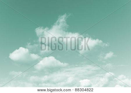 Azure blue sky background with fluffy white clouds conceptual of the weather, meteorology and beauty in nature