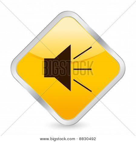 Sound Yellow Square Icon