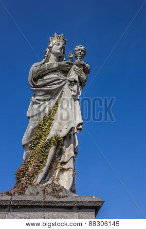 Statue Of Mary And Child At The Keizersberg Abbey In Leuven