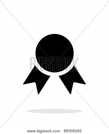 Medal simple icon on white background.