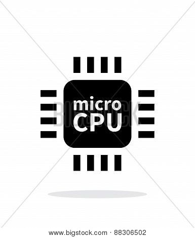 Micro CPU simple icon on white background.