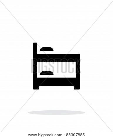 Bunk bed simple icon on white background.
