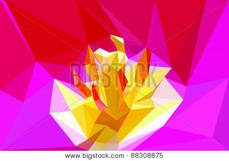 Vector triangular flower