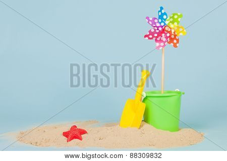 Sand and toys at the beach