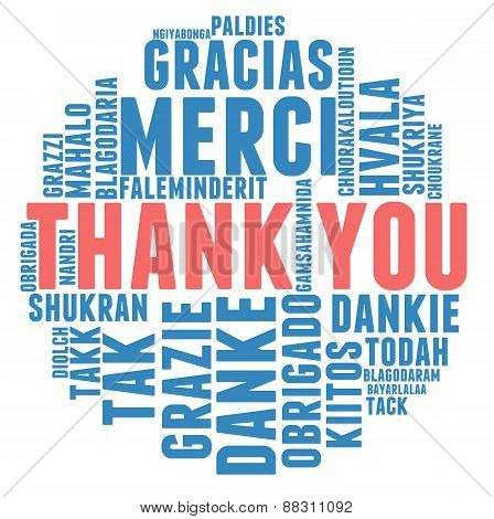 International Thank You Word Cloud