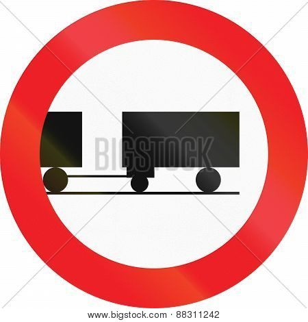 No Lorries With Trailer In Austria