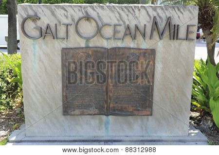 Galt Ocean Mile Entry Sign