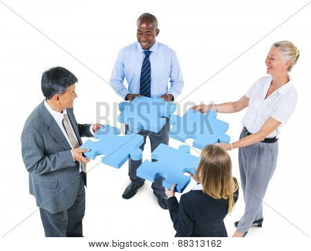 Corporate Business People Teamwork Support Partnership Concept