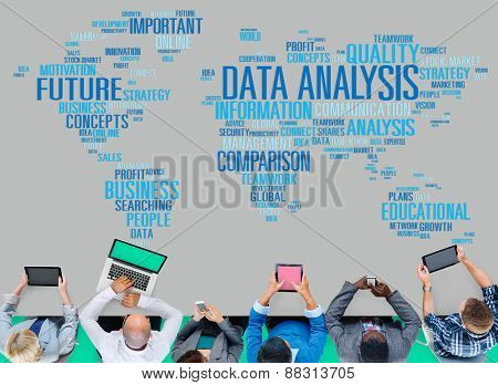 Data Analysis Analytics Comparison Information Networking Concept