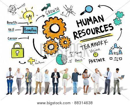Human Resources Employment Job Teamwork Business Technology Concept