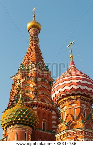 Moscow. Red Square. Saint Basil's Cathedral. The Cathedral of Protection Most Holy Theotokos on the