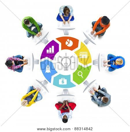 People Social Networking and Creativity Concept