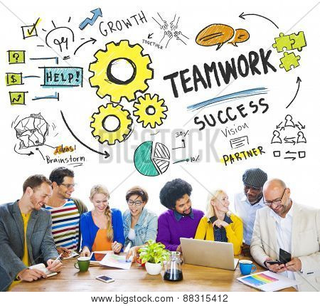 Teamwork Team Together Collaboration People Meeting Office Concept