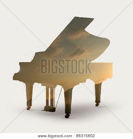 piano silhouette