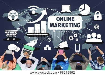 Online Marketing Promotion Branding Advertisement Concept