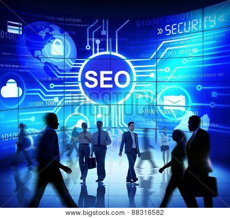 Business People Commuter Technology Security SEO Web Concept