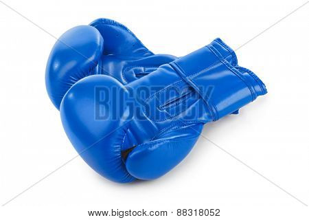 Boxing gloves isolated on white background