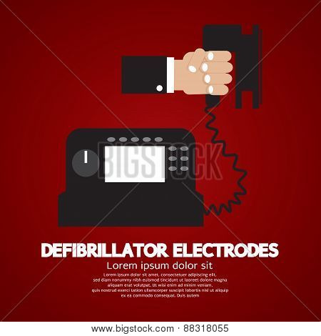 Defibrillator Electrodes Medical Equipment.