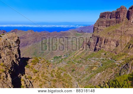 Village Masca at Tenerife island - Canary Spain