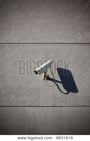 Security Camera Attached On Building