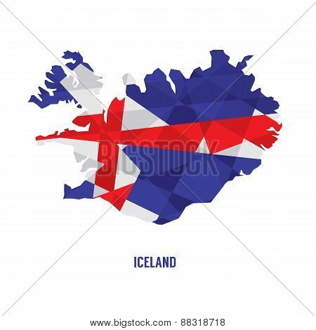 Map Of Iceland.