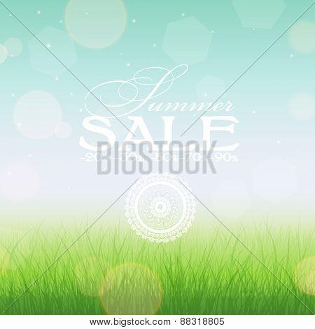 Summer sale banner, vector