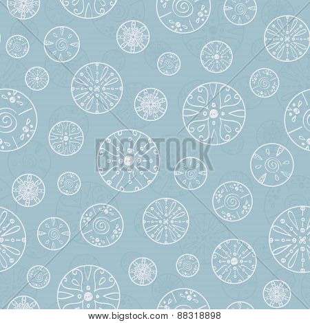 Vector abstract silver bubbles seamless pattern background