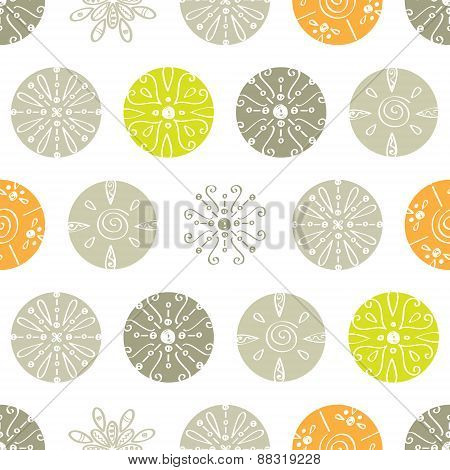Vector abstract gray and green polka dot seamless pattern background