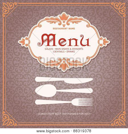 Restaurant Menu Design Vintage Style 1