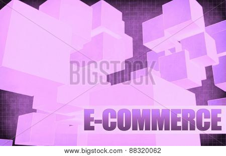E-commerce on Futuristic Abstract for Presentation Slide