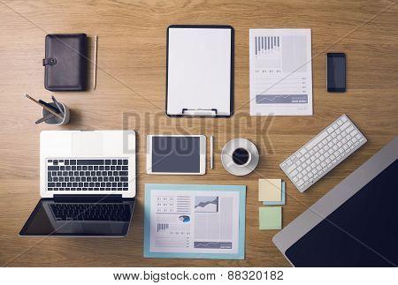Businessman's Tidy Desktop