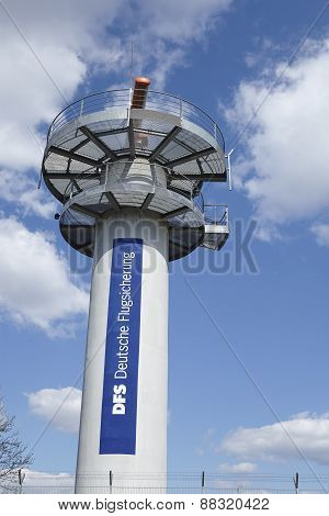 Frankfurt Airport - Radar Tower Of The Deutsche Flugsicherung (dfs)
