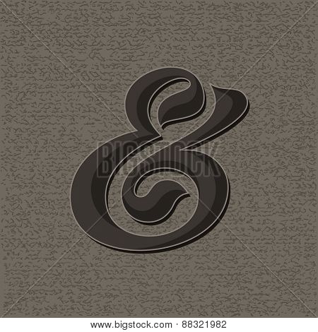 Custom decorative ampersand. Vector illustration