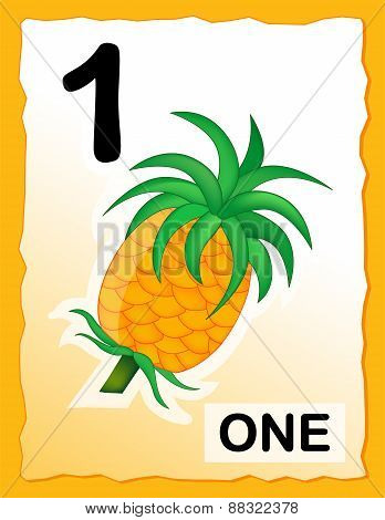 Number 1 Kids Learning Card