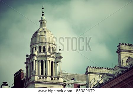 Urban historical architecture in London.