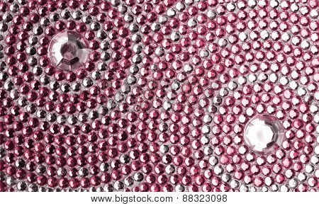 red and silver texture with crystals
