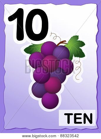Number 10 Kids Learning Cards