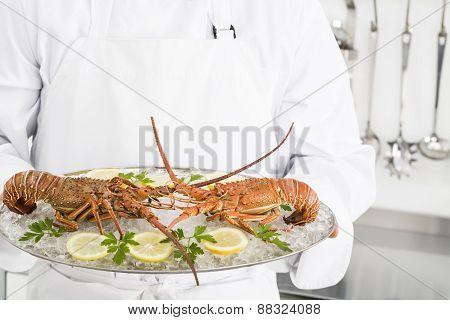 Preparing spiny lobsters