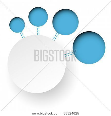 Abstract blue paper banners. Infographics. illustration.